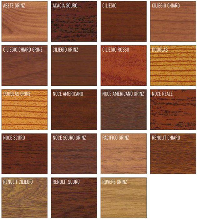 Papini dario colori ral e ossidi for Infissi color legno